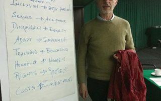 La tabella con i nuovi termini, con la storica colonna portante dell'associazionismo in Italia, Paolo Vivanti