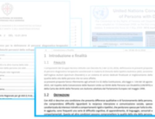 Rilasciato il documento finale del Tavolo Regionale Autismo